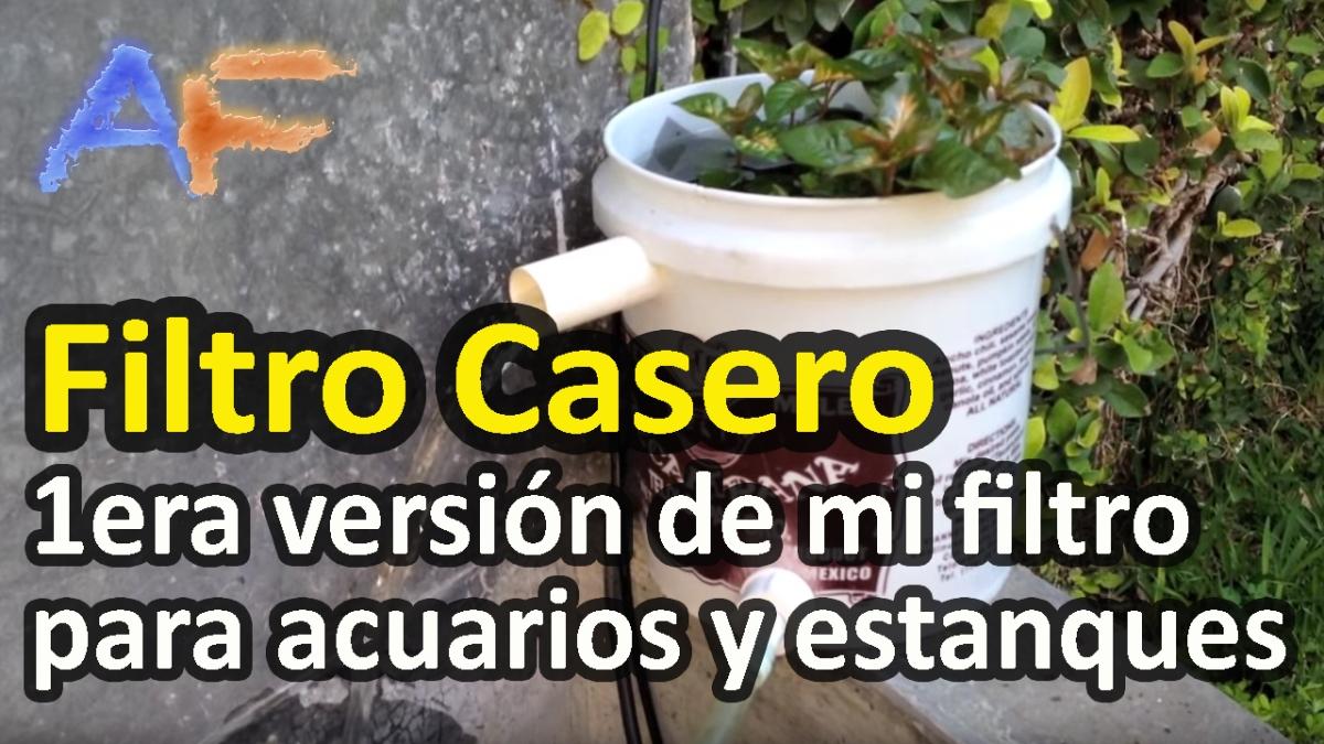 Filtro de cubeta pantano para acuarios y estanques 1er for Filtro para estanque